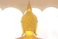 Tillbaka guld- Buddhahuvud Royaltyfria Bilder