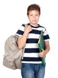 tillbaka härlig pojkeskoladeltagare till Royaltyfria Bilder
