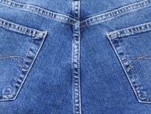 tillbaka jeans Arkivbilder