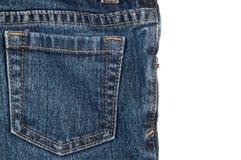 Tillbaka jeansfack Arkivfoton