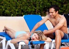 tillbaka lyxig massage Arkivbilder