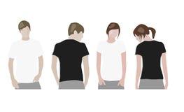 tillbaka mallar för designframdelskjorta t Royaltyfri Fotografi