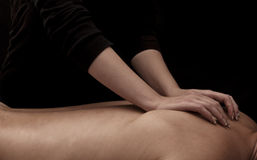 tillbaka massage royaltyfri fotografi