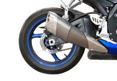 tillbaka motorcykeldel Arkivfoton