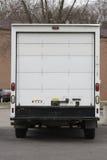 tillbaka moving lastbil arkivfoton