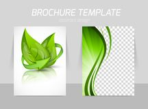 Tillbaka och främre malldesign för reklamblad royaltyfri illustrationer