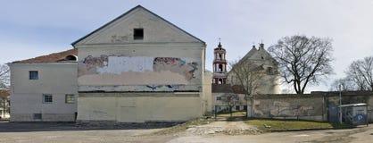 Tillbaka sida av historiska helgonJacob kloster Royaltyfria Bilder