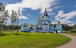 tillbaka sikt Helgedom-Vladimir Skete Valaam omgestaltningkloster Royaltyfria Foton