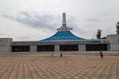 Tillbaka sikt och ingång av ` Ivoire för skjul D för St Paul Cathedral Abidjan Ivory Coast royaltyfria bilder