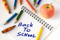 tillbaka skola för äpple till Arkivbilder