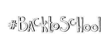tillbaka skola till Dragen bokstäver för vektor hand Arkivfoton