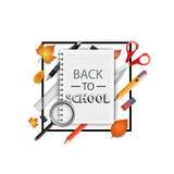 tillbaka skola till också vektor för coreldrawillustration Skolabakgrundsbegrepp Arkivfoto