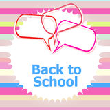 tillbaka skola till Planlägg beståndsdelar, abstrakt bakgrund, utbildningsbegrepp Royaltyfria Bilder