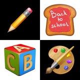 tillbaka skola till Skola lunch vektor illustrationer