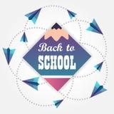 tillbaka skola till Stiliserad skolablyertspenna _ vektor illustrationer