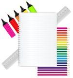 tillbaka skolabrevpapper till Arkivbilder