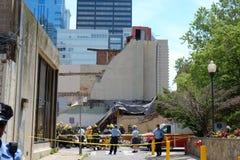 Tillbaka slut av byggnaden som kollapsade Fotografering för Bildbyråer