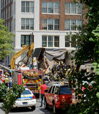 Tillbaka slut av byggnaden som kollapsade Royaltyfria Foton