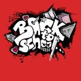 tillbaka stil för grafittiskolatecken till Royaltyfri Foto