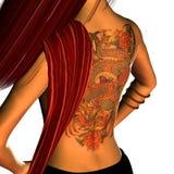 tillbaka tatuering Arkivfoton