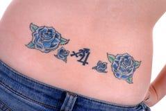 tillbaka tatuering Fotografering för Bildbyråer