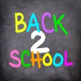 tillbaka tavlaskola för blackboard till Royaltyfri Foto