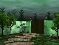 tillbaka trädgård Arkivfoton