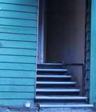 Tillbaka trappa för stad Arkivbilder