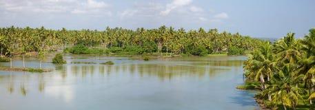 Tillbaka vatten i Kerala Arkivfoton