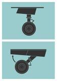 Tillbakadragning för landningkugghjul Royaltyfri Foto