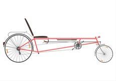 Retro tillbakalutad cykel. royaltyfri illustrationer