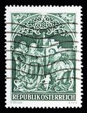 "\ ""tillbedjan av herdar \"" Johannes Chapel, Nonnberg abbotskloster, Kristus Royaltyfri Bild"
