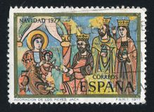 Tillbedjan av konungarna royaltyfria bilder