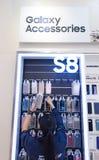 Tillbehör för Samsung galax S8 Arkivfoto