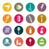 Tillbehör för symboler för hårsalong Fotografering för Bildbyråer