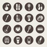 Tillbehör för symboler för hårsalong royaltyfri illustrationer