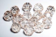 tillbehör små genomskinliga kristaller Royaltyfri Bild