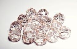 tillbehör små genomskinliga kristaller Royaltyfria Bilder