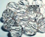 tillbehör små genomskinliga kristaller Fotografering för Bildbyråer