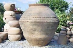 Tillbringare i en keramikers seminarium. Ö av Kreta Arkivbild