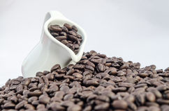 Tillbringare- och kaffebönor Royaltyfria Bilder