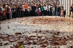 Tillbringare och kruka som kastar i Korfu royaltyfria foton