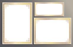 Tilldela intyg mallen, presentkortet för din buziness royaltyfri foto