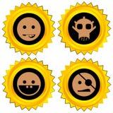 tilldela symbolen den set smileyen vektor illustrationer