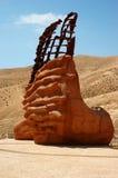 tilldelad israel monumentrock som är sedimentary till arkivbild