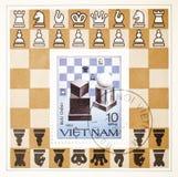 tilldelad portostämpel för schack till Royaltyfri Foto