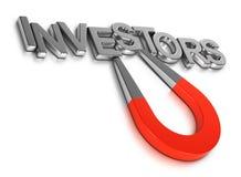Tilldra nya aktieägare vid Crowdfunding eller affärsänglar till stjärnan stock illustrationer
