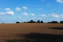 Tilled Farmland Background Royalty Free Stock Photo