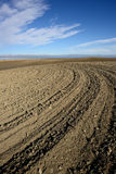 Tilled Soil. Landscape featuring tilled soil from a farmers field Royalty Free Stock Photography