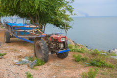 Tiller for wall behind of Thailand. Tiller for farmer wall behind of Thailand Royalty Free Stock Image